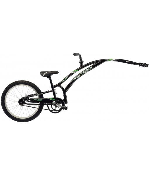 Vélo-remorque Trail-A-Bike Folder compact, Noir/Vert