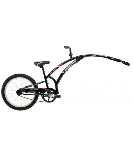 Vélo-remorque Trail-A-Bike folder 1, Noir/Rouge