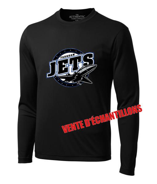 T-Shirt Jets de Farnham 350LS Noir, Junior ou Senior