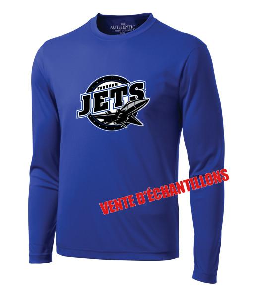 T-shirt Jets de Farnham 350LS Bleu, Junior ou Senior