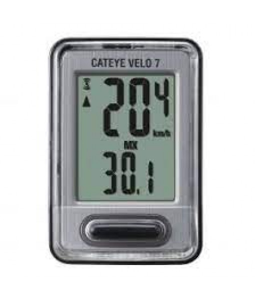 Cyclo-compteur Cateye Velo 7  Wired, Noir
