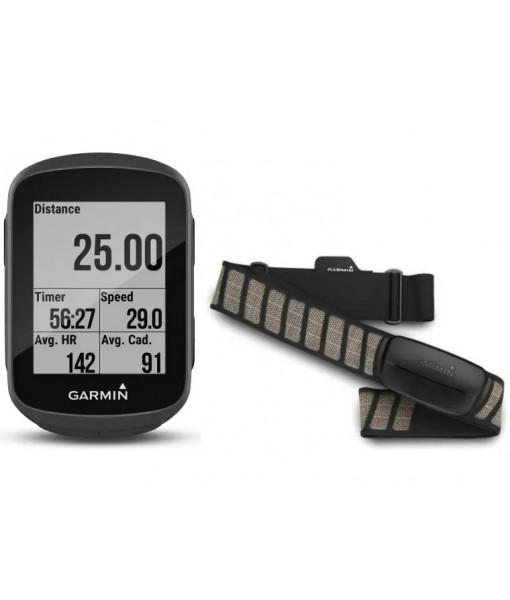 Cyclo-compteur GPS Garmin Edge 130 Plus Bundle, Noir