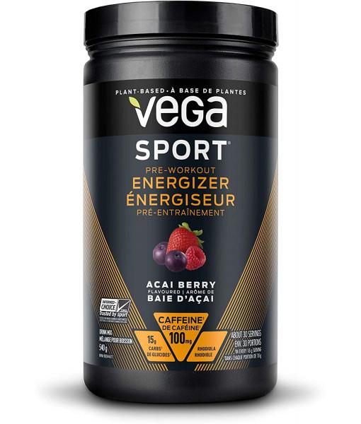 Poudre Vega Sport Energizer, Baie d'açai 540g